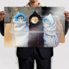 Cute Kitties  Art Poster Print  36x24 inch