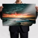 Hdr Sunset S Art Poster Print  36x24 inch