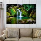 Garden Waterfall  Art Poster Print  36x24 inch
