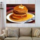 Pan Cakes Pancake  Art Poster Print  36x24 inch