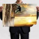 Rock Climbing  Art Poster Print  36x24 inch