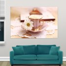 Cup Of Coffee  Art Poster Print  36x24 inch
