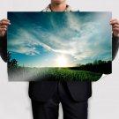 Grassy Sunset  Art Poster Print  36x24 inch