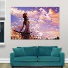 Girl With Katana  Art Poster Print  36x24 inch