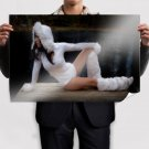 Lakeside In White  Art Poster Print  36x24 inch