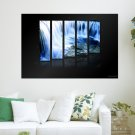 Crystal Waterfall  Art Poster Print  36x24 inch