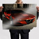 Bmw Red  Art Poster Print  32x24 inch