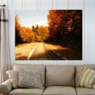 Autum In The Forest  Art Poster Print  32x24 inch