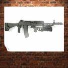 Assault Rifle 38  Art Poster Print  32x24 inch