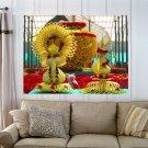 Flower Ganesha  Art Poster Print  32x24 inch