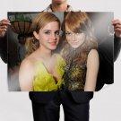 Emma Stone And Emma Watson  Art Poster Print  32x24 inch