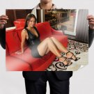 On Red Sofa  Art Poster Print  32x24 inch