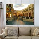 Las Vegas Venetian Hotel Canal  Art Poster Print  32x24 inch