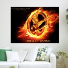 The Hunger Games Mockjay Pin  Art Poster Print  24x18 inch