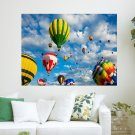 Colorful Airballoon Hd  Art Poster Print  24x18 inch
