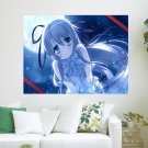 Cute Anime Girl  Art Poster Print  24x18 inch