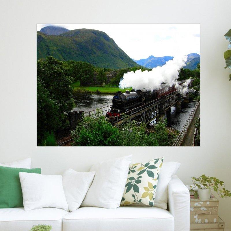Steam Train  Art Poster Print  24x18 inch