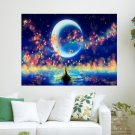 Fantasy Lamps  Art Poster Print  24x18 inch