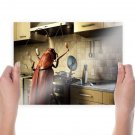 Cockroach Cooking  Art Poster Print  24x18 inch