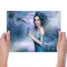 Blue Fairy  Art Poster Print  24x18 inch