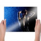Girl And Water  Art Poster Print  24x18 inch