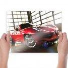 Alfa Romeo Car  Art Poster Print  24x18 inch
