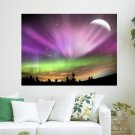 Northern Lights  Art Poster Print  24x18 inch
