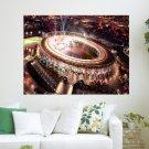 London 2012 Olympic Stadium  Art Poster Print  24x18 inch