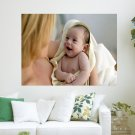 Cute Baby Smile  Art Poster Print  24x18 inch