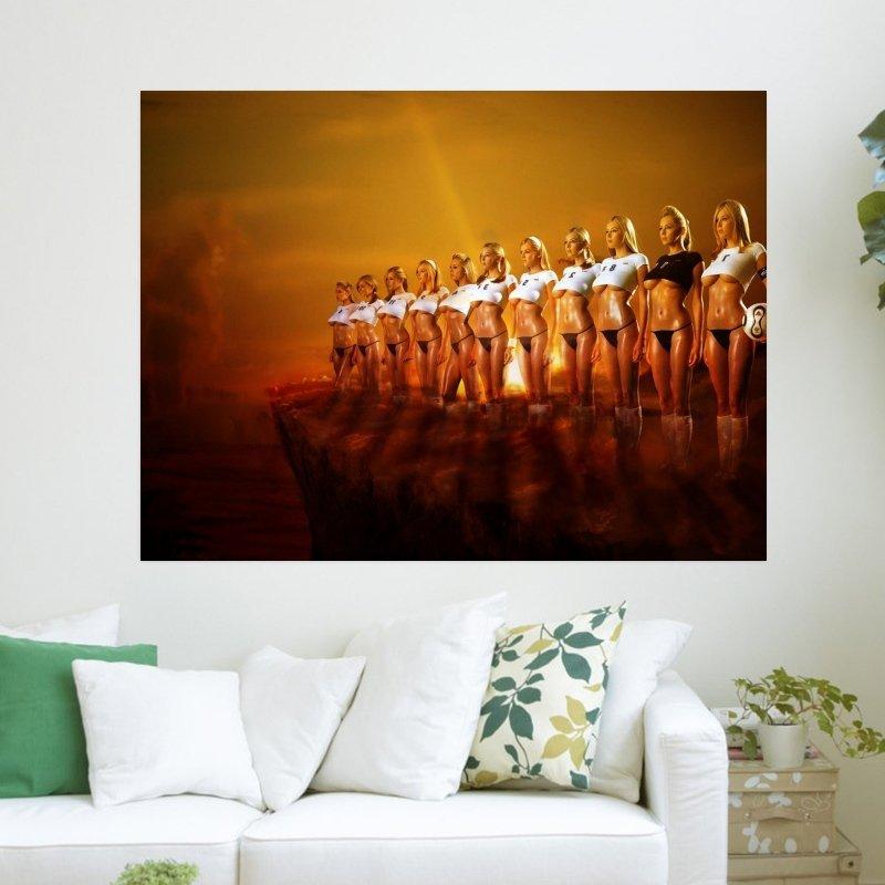 Keeley Hazell Sexy Soccer Team  Art Poster Print  24x18 inch