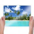 Tropical Island  Art Poster Print  24x18 inch