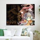 Anime Girls Warriors  Art Poster Print  24x18 inch