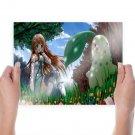 Chikorita Pokemon  Art Poster Print  24x18 inch