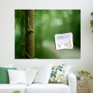 Tree April 2012 Calendar  Art Poster Print  24x18 inch