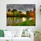 Fantasy River  Art Poster Print  24x18 inch