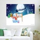 2013 Merry Christmas  Art Poster Print  24x18 inch