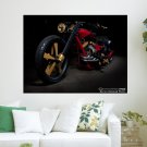 Custom Bike  Art Poster Print  24x18 inch
