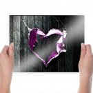 Love On Valentine  Art Poster Print  24x18 inch