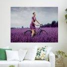 Portrayed In Purple  Art Poster Print  24x18 inch