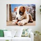 Little Puppy  Art Poster Print  24x18 inch