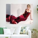 Fancy Red Dress  Art Poster Print  24x18 inch