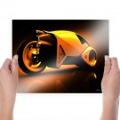 Cool Motorbike Background Art Poster Print  24x18 inch