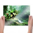 In The Jungle  Art Poster Print  24x18 inch