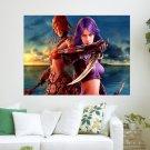 Gaming Women  Art Poster Print  24x18 inch