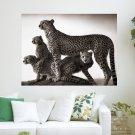 Cheetah Domination  Art Poster Print  24x18 inch
