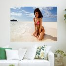 Tanned Girl On Beach  Art Poster Print  24x18 inch