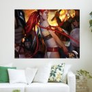 Red Hair Warrior  Art Poster Print  24x18 inch