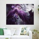 Purple Angle  Art Poster Print  24x18 inch