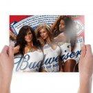 Budweiser Girls  Art Poster Print  24x18 inch