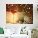 Wine January Calendar  Art Poster Print  24x18 inch